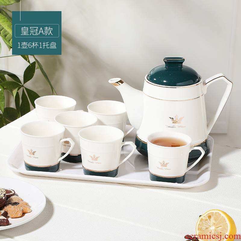 North European ceramic teapot set home sitting room heat - resistant glass cold contracted creative kettle with tea set