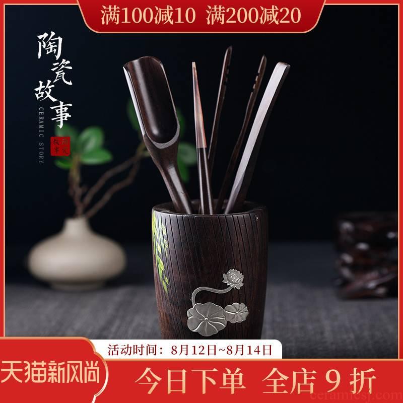 Ceramic story 6 gentleman suit kung fu tea set with parts of zen tea 6 gentleman tea tea tool