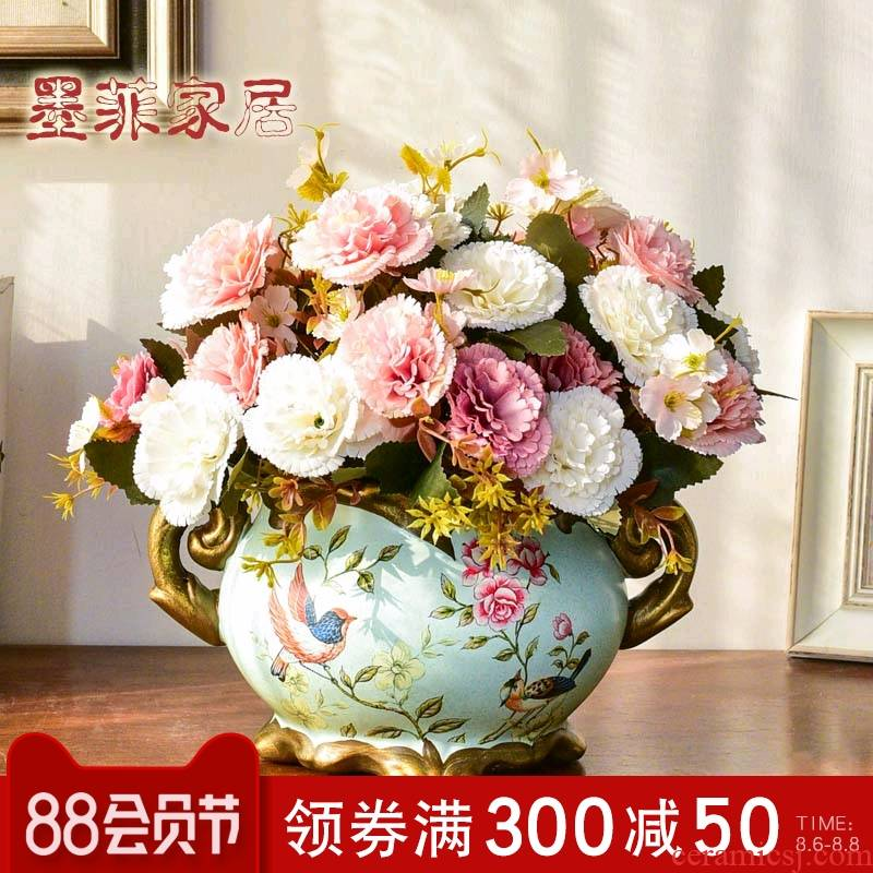 American vase furnishing articles dried flower arranging flowers sitting room porch decoration ceramics European household wine TV ark, decoration