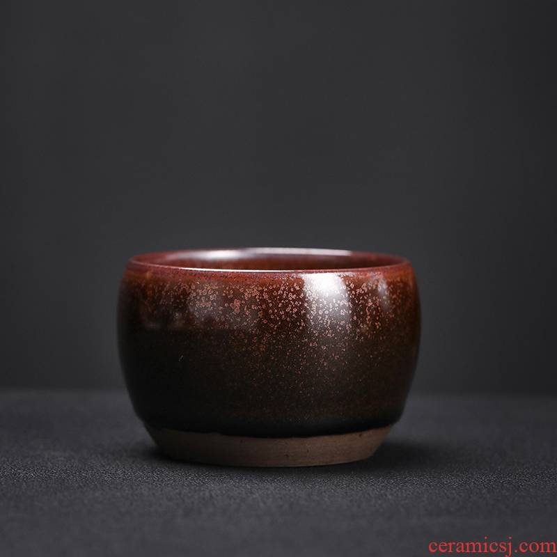 For li into pure manual pull embryo firewood zen ji cup coarse pottery cups personal single cups of tea cup, ceramic tea set the master