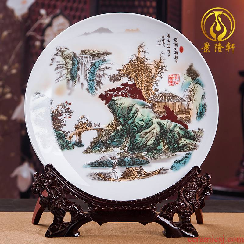 Jingdezhen ceramics decoration household decoration of Chinese style of TV ark, plate of the sitting room porch wine accessories furnishing articles
