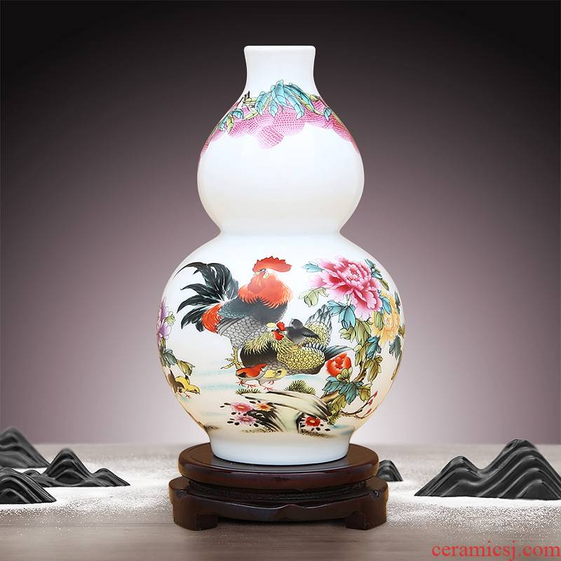 To ceramics powder enamel porcelain bottle gourd
