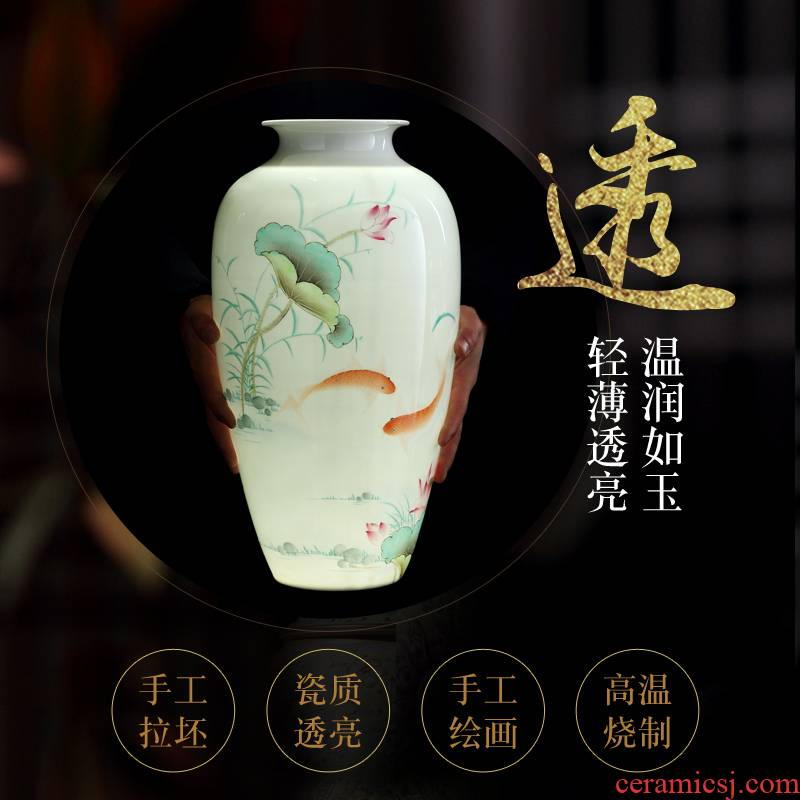 Jingdezhen vase and exquisite porcelain hand - made flowers and birds in successive years more vases, furnishing articles