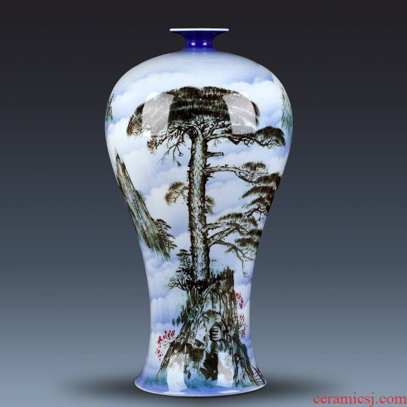 The Master of jingdezhen chinaware big vase hand - made guest - the greeting pine furnishing articles gifts club villa hotel