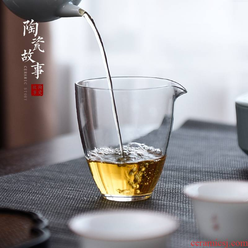 Ceramic fair story Japanese green tea points tea cup glass thickening heat) suit and a cup of tea accessories