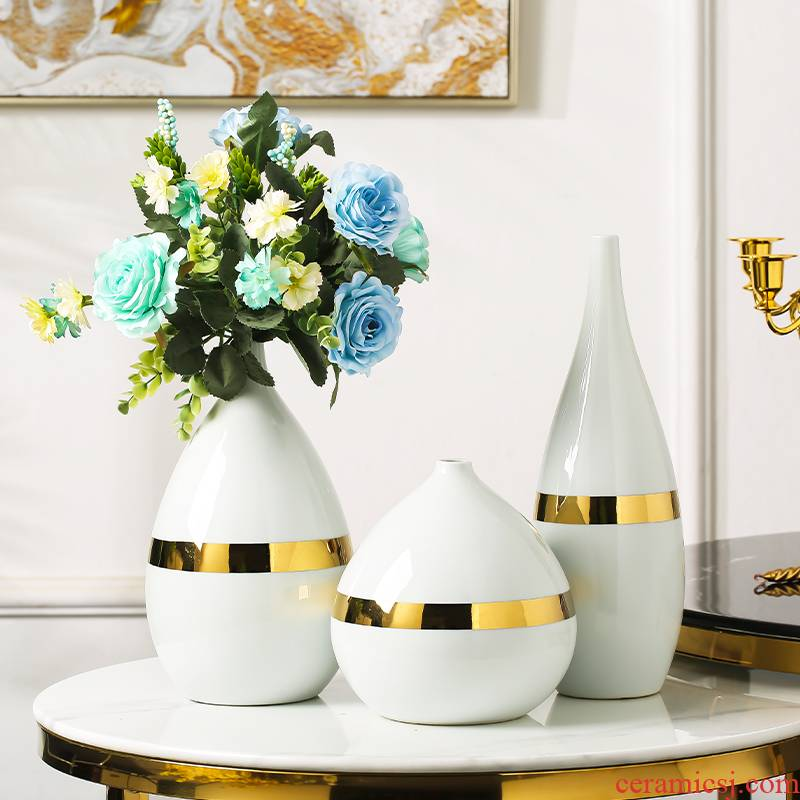 I and contracted white light and decoration ceramics vase new TV cabinet table of Chinese style household act the role ofing is tasted dry flower adornment furnishing articles