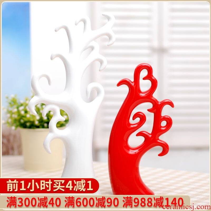 Modern home decoration new home furnishing articles 013 wedding gift love tree ceramic arts and crafts