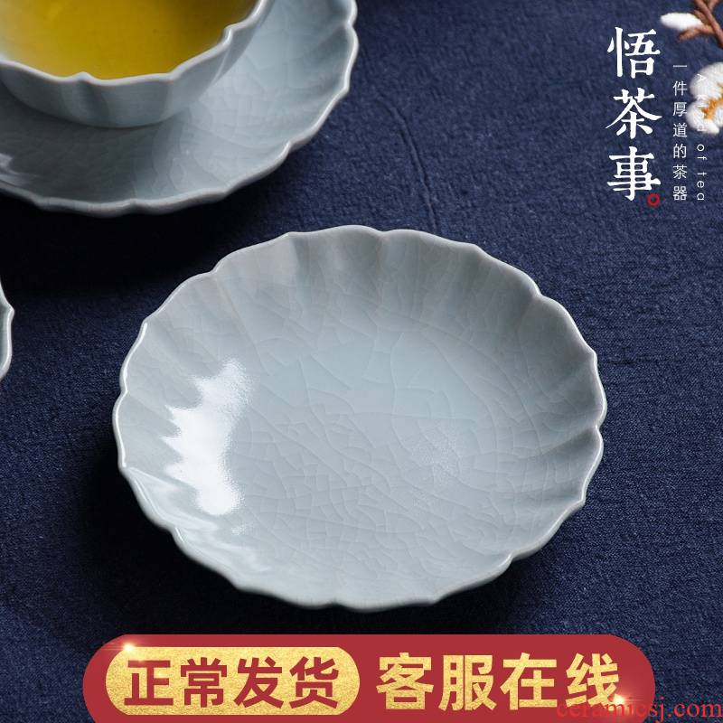 W poly real view your up lotus cup mat against hot insulation cup household kung fu tea accessories