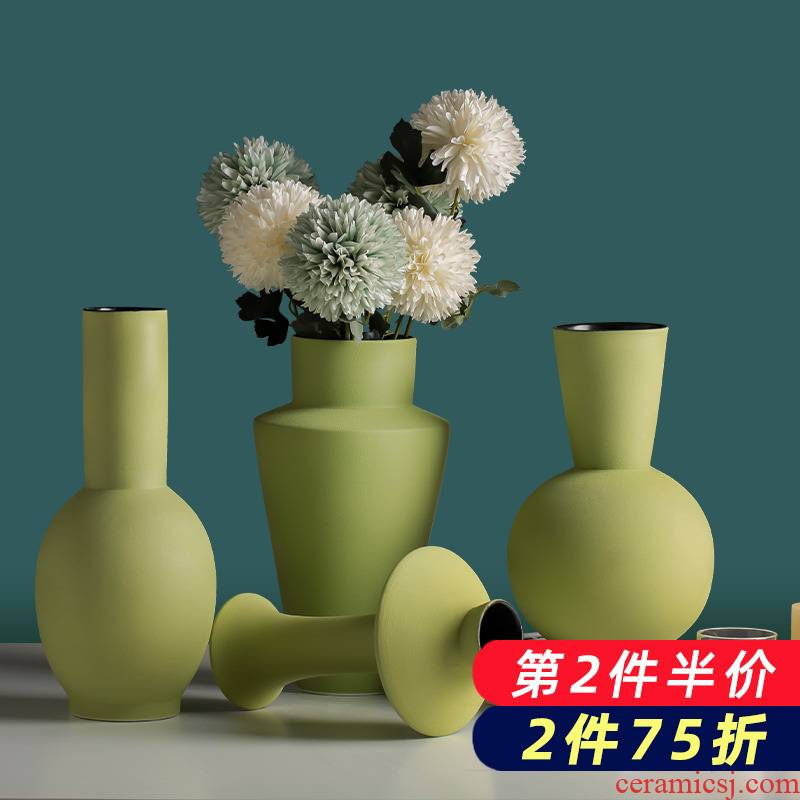 Dried flower vases, pottery and porcelain the modern creative contracted home furnishing articles sitting room TV cabinet decoration arranging flowers