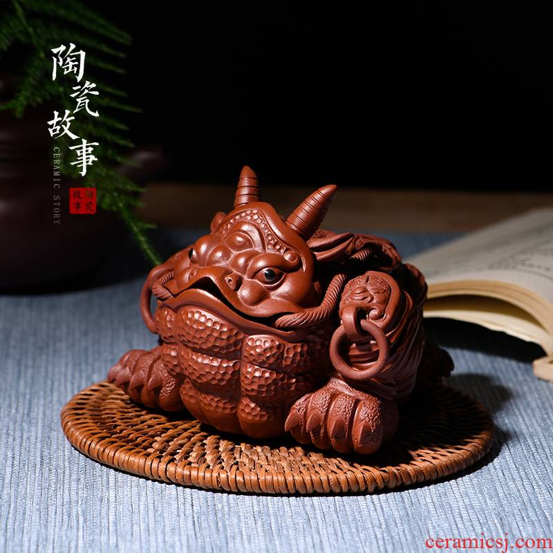 Pet checking ceramic story violet arenaceous NiuChan tea to keep home furnishing articles play kung fu tea accessories boutique tea