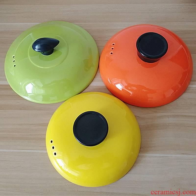 Pot child package mail casserole Pot soup Pot cover color ceramic lid household see colour stew soup Pot accessories