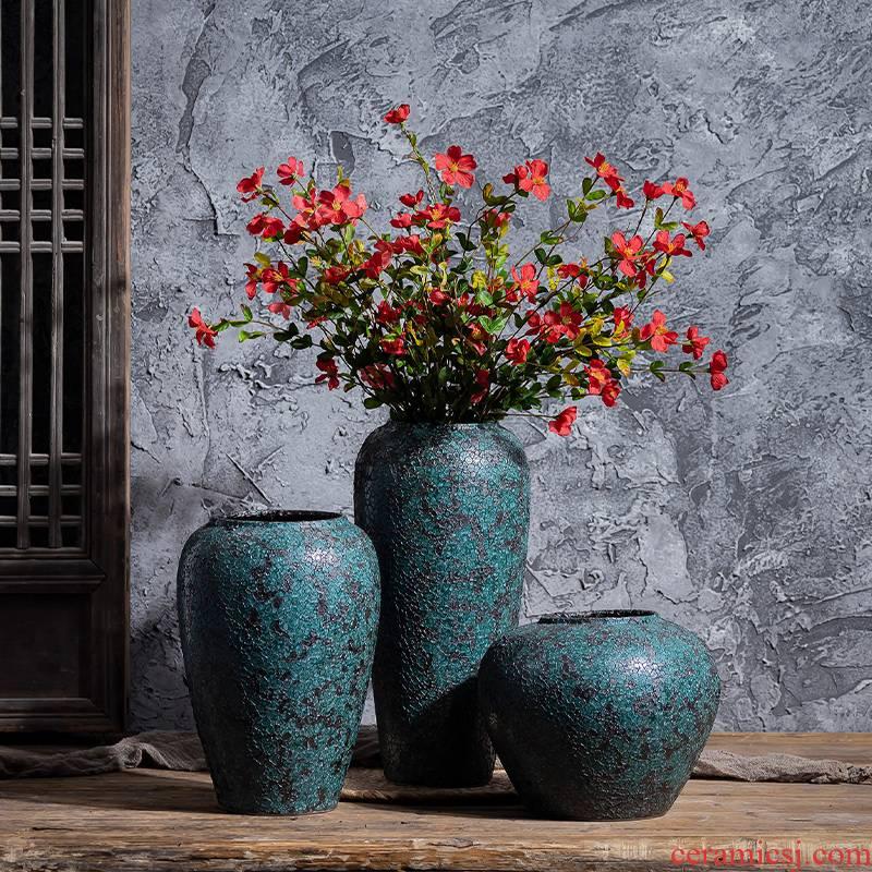 New Chinese style restoring ancient ways jingdezhen ceramics POTS coarse pottery dried flower water raise floret bottle arranging flowers sitting room place flowerpot