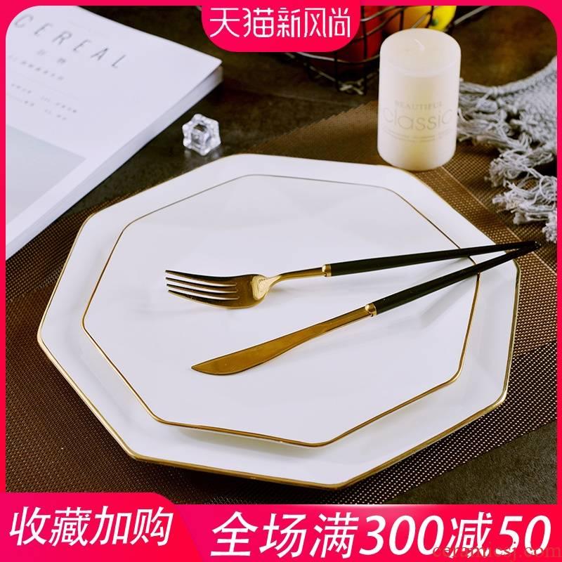Jingdezhen European - style originality up phnom penh ipads porcelain anise flat large household ceramics steak dishes west pot dish