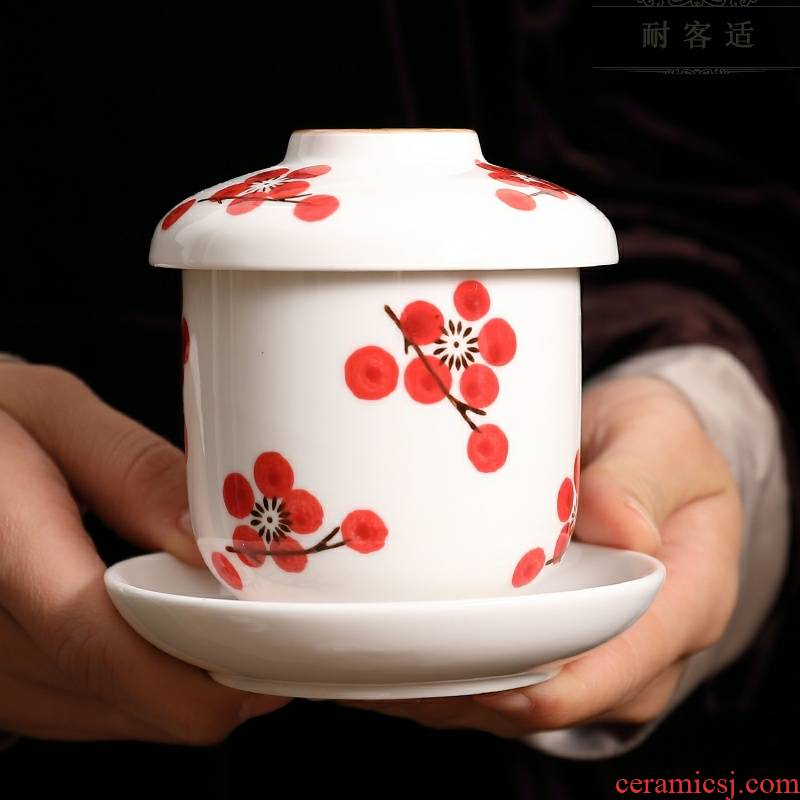 Scene for Japanese tableware of pottery and porcelain cup with cover household egg cup stew stew egg cup steamed egg bowl tureen handless small dessert