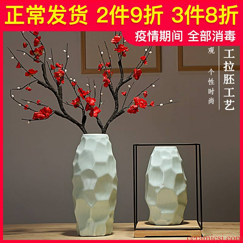 Jingdezhen ceramics vases, I and contracted creative new Chinese style living room porch dry flower arranging flowers adornment furnishing articles