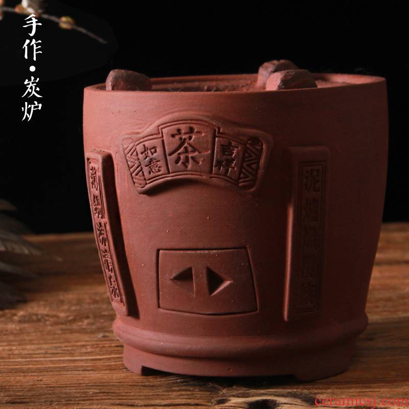 Olive wood stoves red mud tea stove wind furnace carbon furnace small fire boil tea thick clay POTS zen tea kettle hand