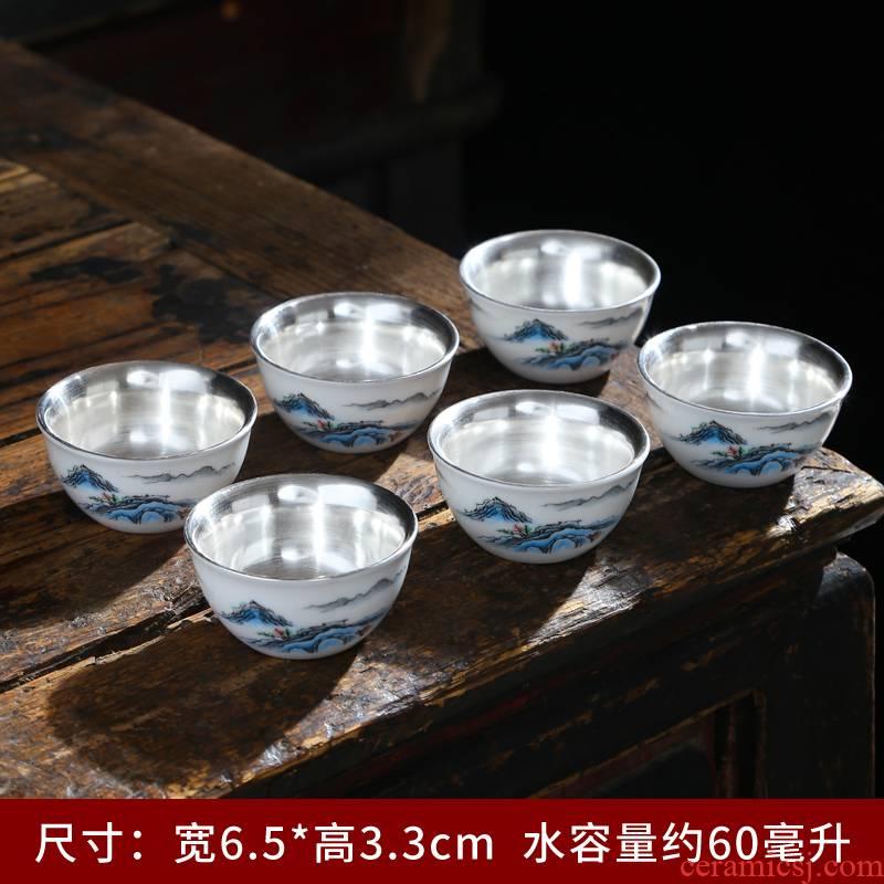 Suet jade white porcelain cups from the single 6 pack of household ceramics pu sample tea cup custom master CPU