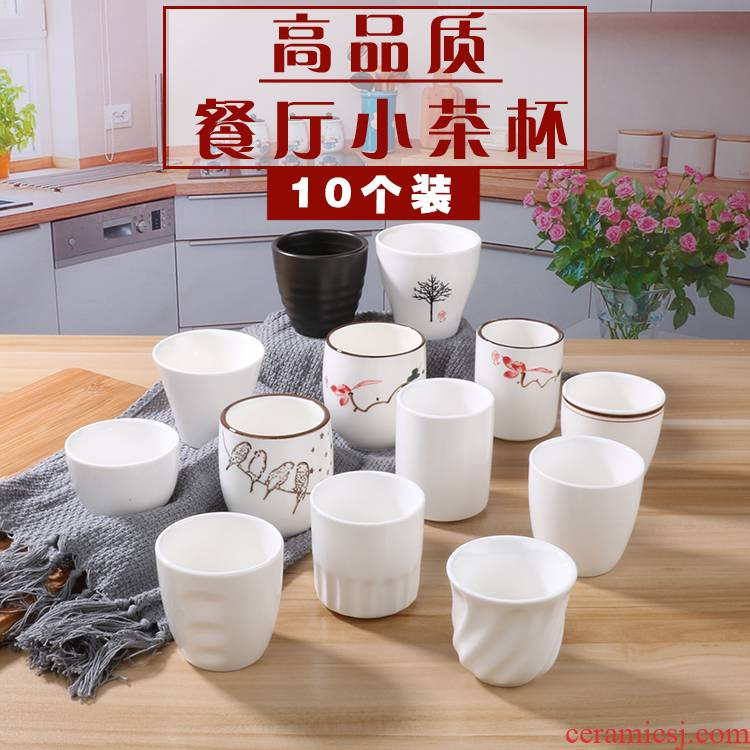 Pure white ceramic keller cup hotel set up early tea cup restaurant hotel glass koubei catering