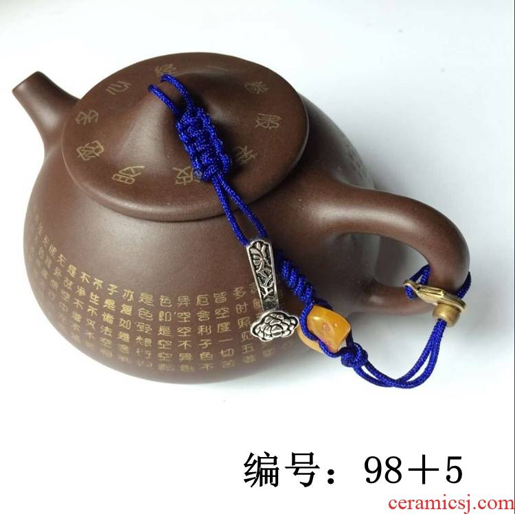 Double gourd ladle lid lashing kung fu tea cup with lid cord rope are it lashing the teapot lid cup