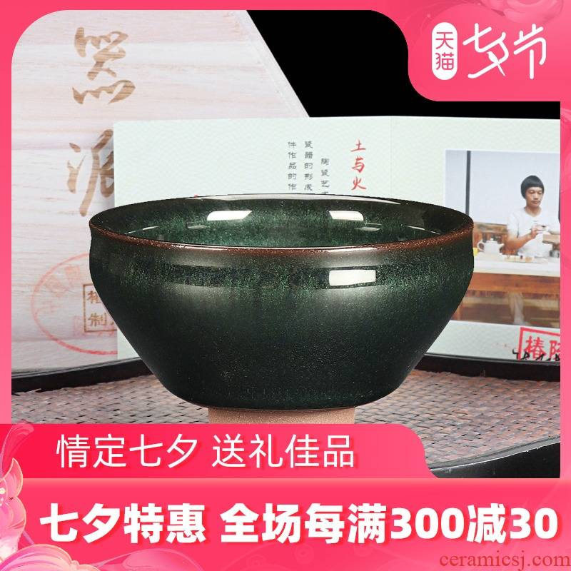 The Master artisan fairy Chen Weichun up built lamp cup pure manual household ceramic masters cup single cup large restoring ancient ways