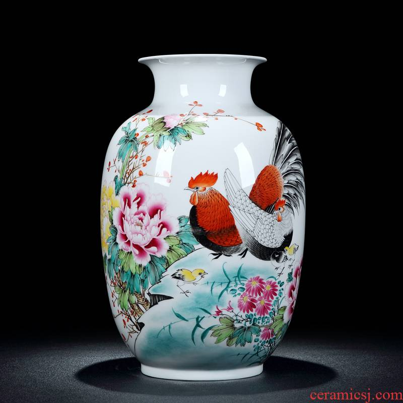 Jingdezhen intangible craftsmen sell loose guo - hua liu qin works new color hand - made family table vase