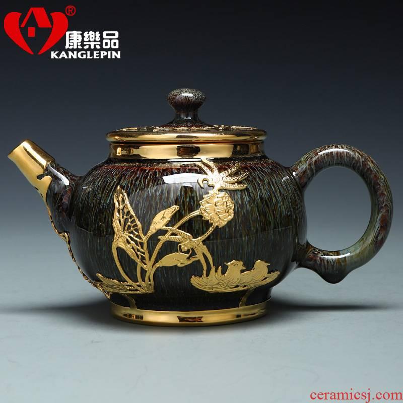 Recreational product an inset jades jingdezhen business gift set manually Jin Gongfu tea teapot teacup built one single pot of tea
