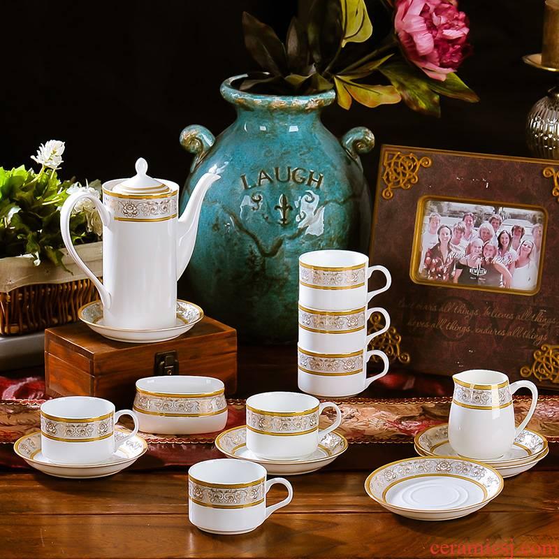 European style coffee coffee cup eight head suit I British ceramics scented tea tea tea set