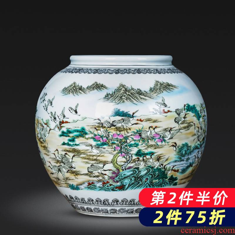 Jingdezhen porcelain ceramic the ancient philosophers figure vase large storage tank sitting room of Chinese style household adornment kitchen furnishing articles