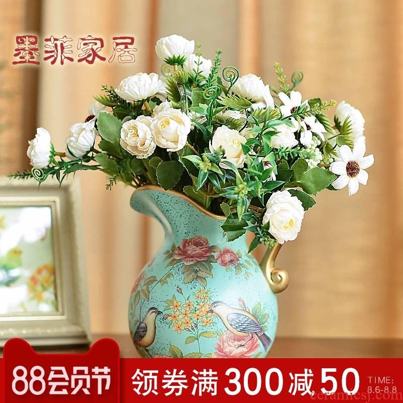 Murphy rural ceramic floret bottle artical sitting room adornment is placed simulation flower art suit dry flower arranging flowers