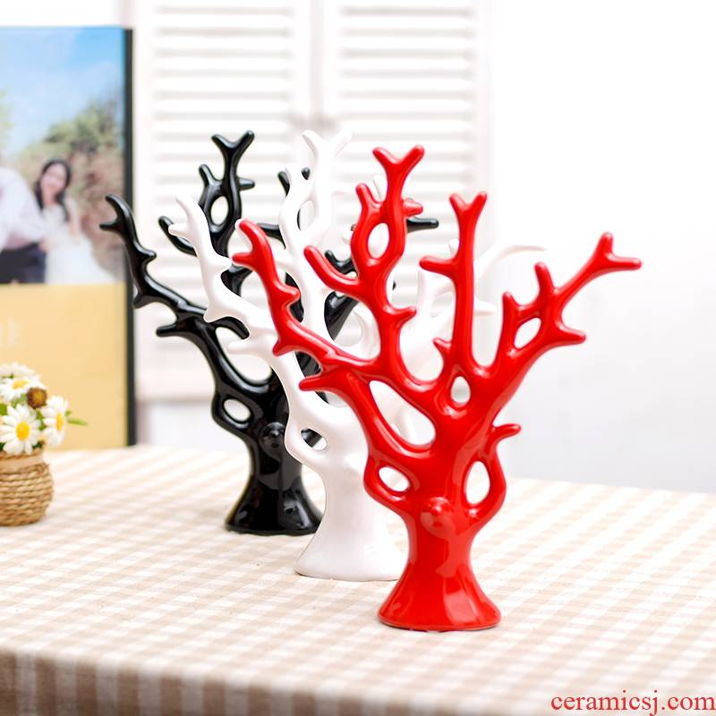 011 jingdezhen ceramic modern household adornment handicraft furnishing articles creative love rich tree