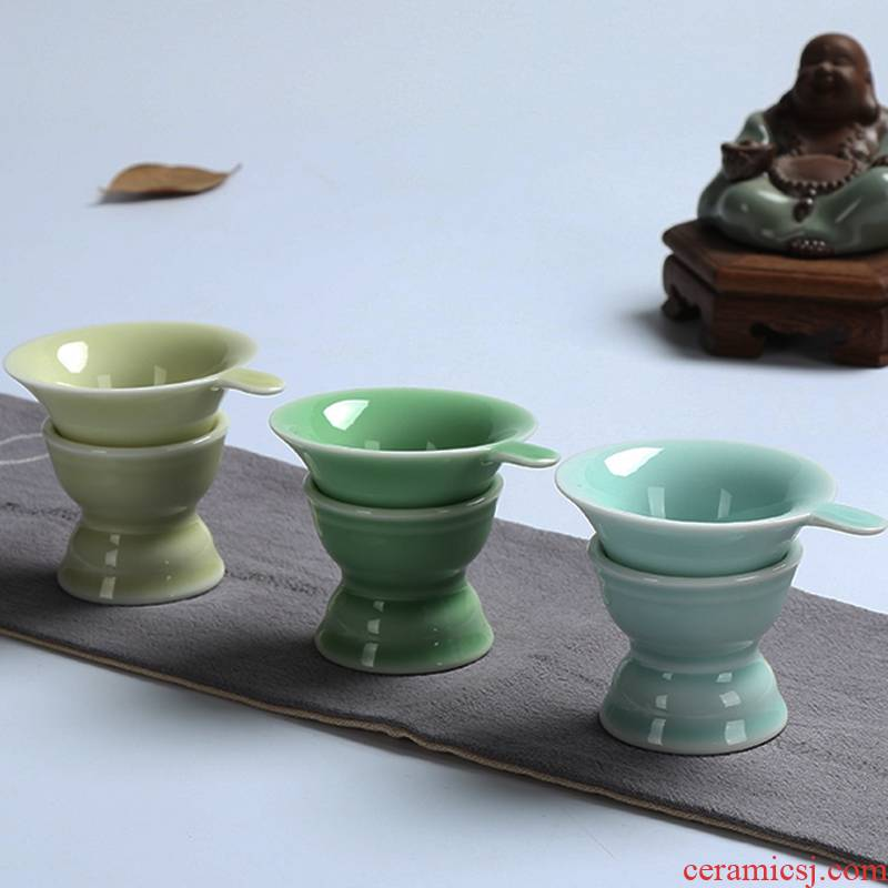 Poly real scene celadon) kongfu tea teapot tea tea good with supporting ceramics filter on sale