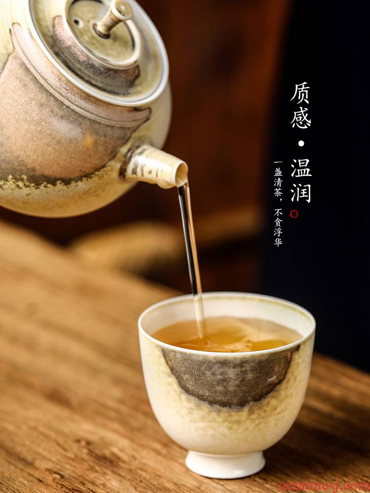 "Kung fu noggin jingdezhen ceramic cup sample tea cup master cup ""women 's singles a pure manual fragrance - smelling cup a cup of tea"