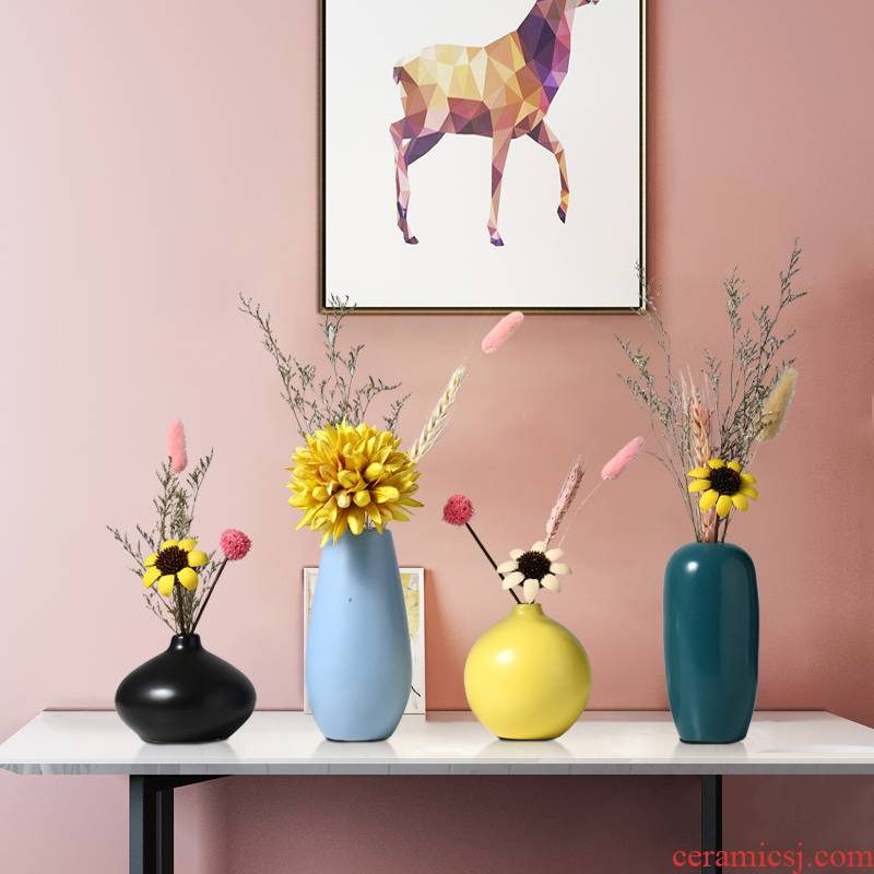 Creative home light key-2 luxury ceramic vase furnishing articles all over the sky star TV ark, dried flowers, flower arrangement table sitting room adornment ornament