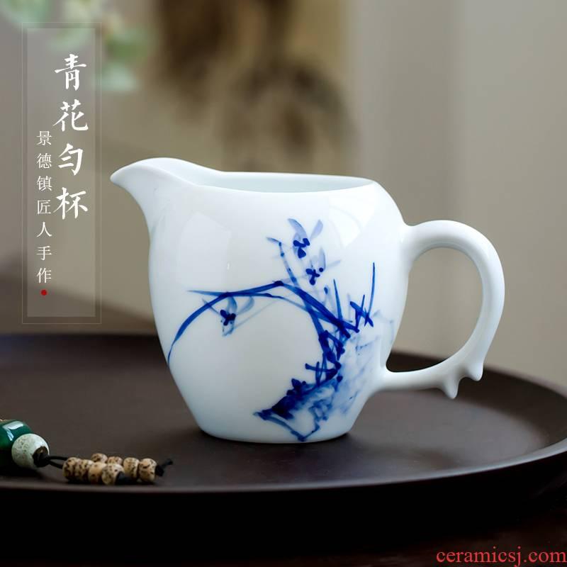 The Poly real scene of jingdezhen blue and white porcelain hand - made fair keller kung fu tea special tea tea ware ceramic tea sea