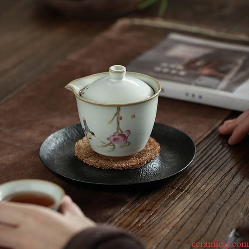 Ceramic teapot single pot hand grasp pot with teapot trumpet your up filter tureen single congou tea POTS