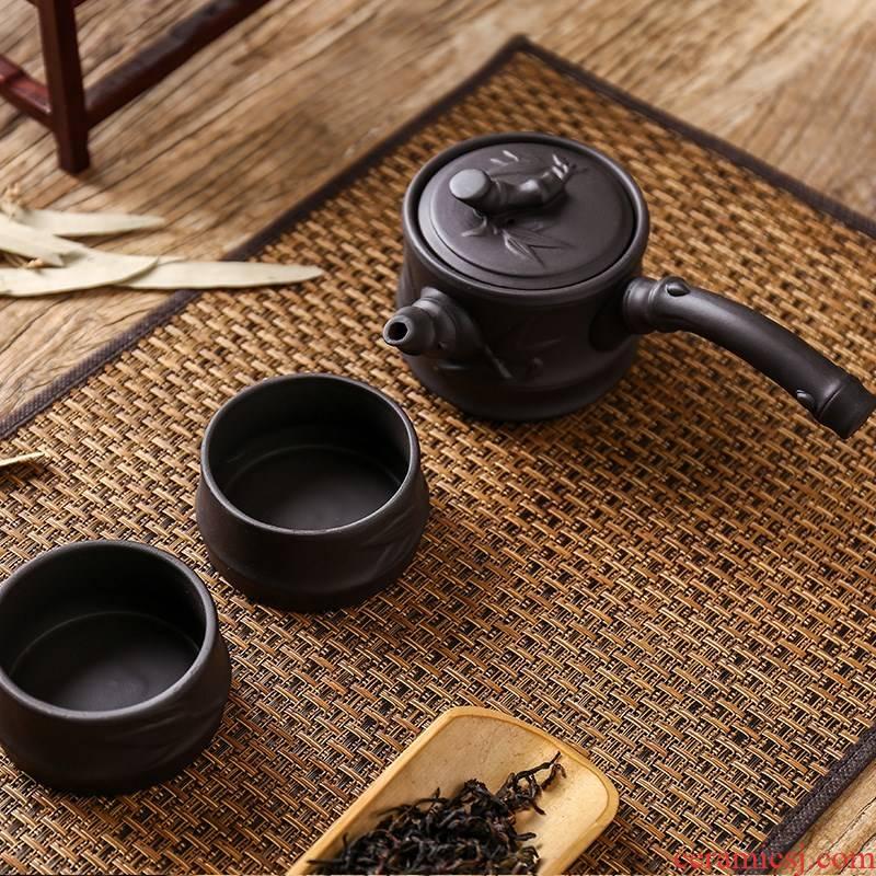 Ceramic kung fu tea set crack cup single it portable travel office home teapot your up jingdezhen