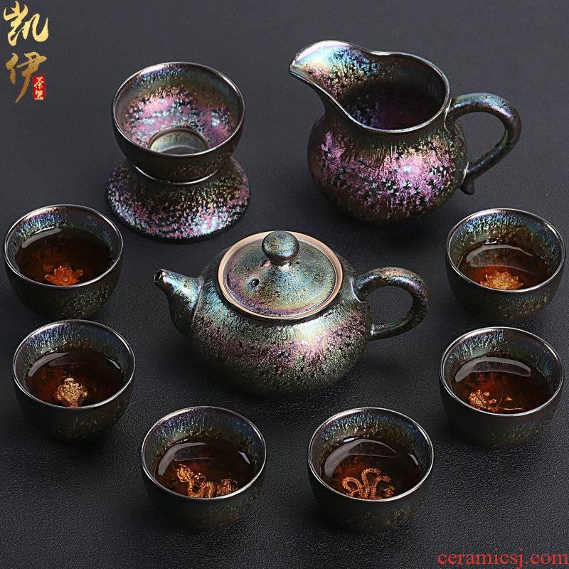Checking silver 7 see colour temmoku up tea set informs the ceramic teapot gold cup tea tureen office