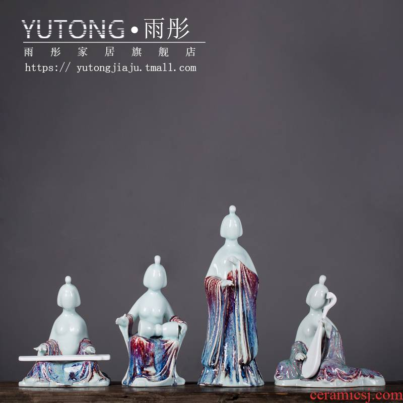 Aficionado maid stereo furnishing articles furnishing articles ceramic art of ancient traditional Chinese jingdezhen porcelain sitting room place