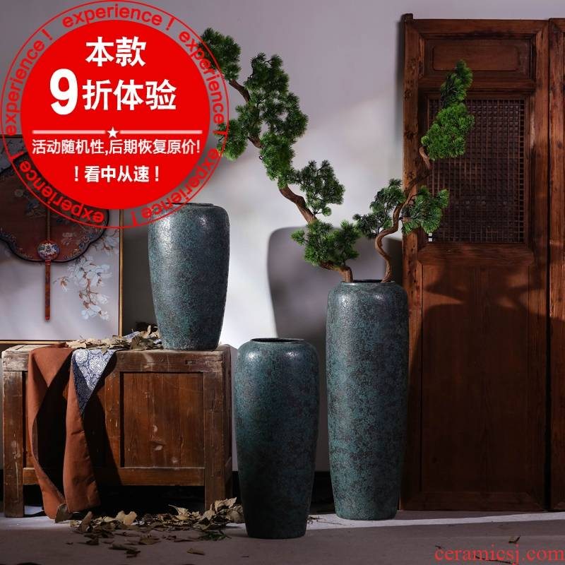 Jingdezhen Chinese style restoring ancient ways large vases, dried flower decorations ceramics furnishing articles sitting room TV ark landed flower arrangement