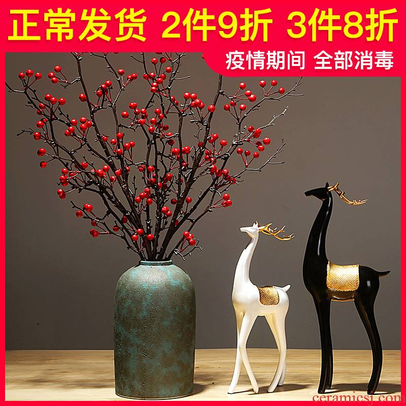 Jingdezhen ceramics vase manual creative sitting room porch study of new Chinese style furnishing articles flower decorations