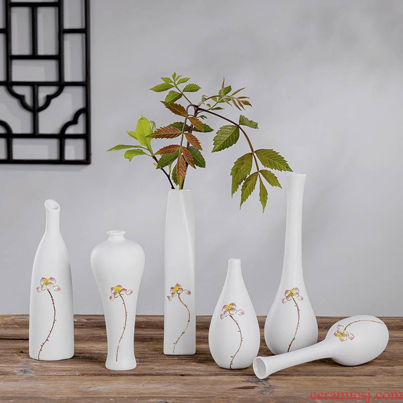 Japanese mini ceramic vase vase floral outraged tea zen Chinese copper grass home furnishing articles porcelain ornaments