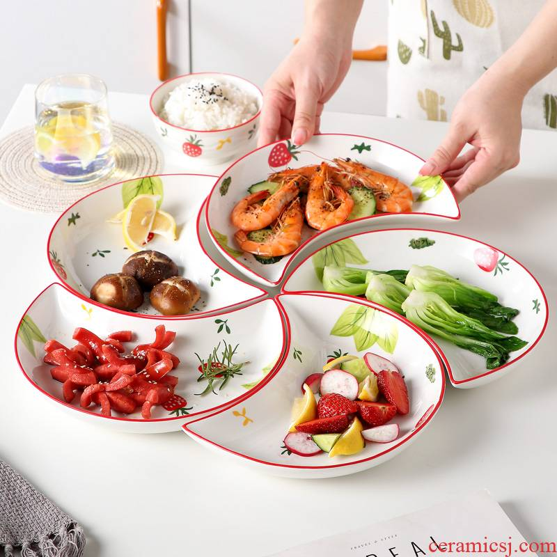 Japanese dishes suit household web celebrity reunion platter ceramic tableware creative new combination of jingdezhen