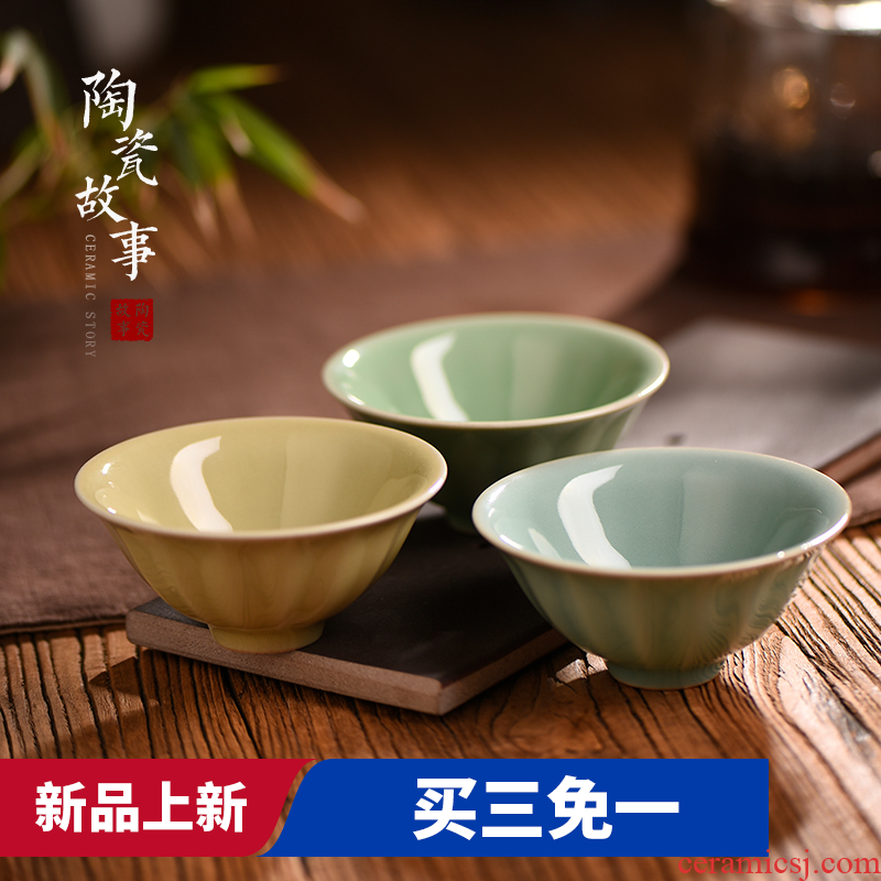 Ceramic story clearance goody bag Ceramic cups kung fu tea set your up sample tea cup single master cup small bowl