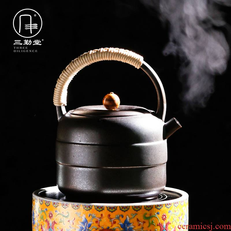 The three regular white clay jug kettle boil tea ware has large earthen POTS S28021 girder pot of kung fu tea pot electricity