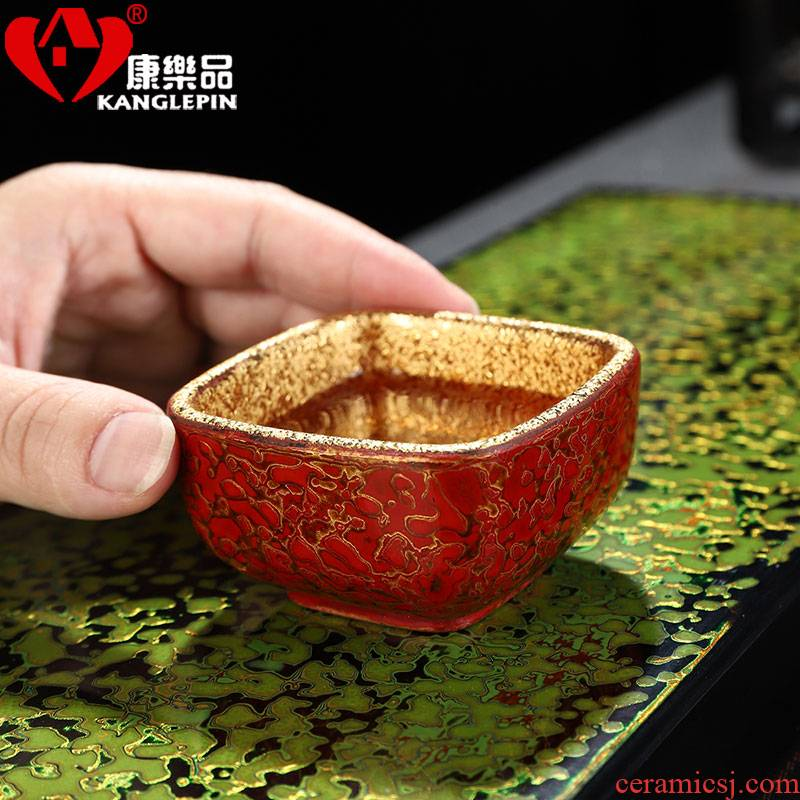 Recreational product gold lacquer tea set of the big cup pure manual violet arenaceous jinzhan master cup single CPU ceramic kung fu tea cups