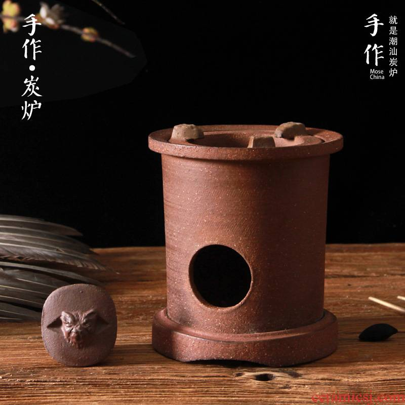 Charcoal stove to boil tea ware red mud kung fu tea stove coarse clay POTS girder cooking kettle glass teapot tea'm carbon furnace