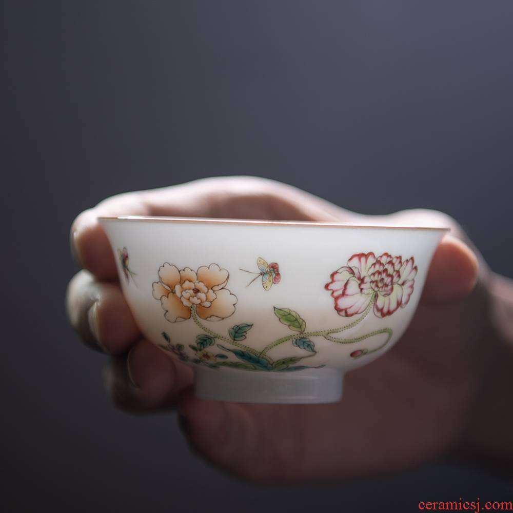 24 apparatus pastel sweet white single cup small kung fu tea cups of jingdezhen ceramics cup single single master