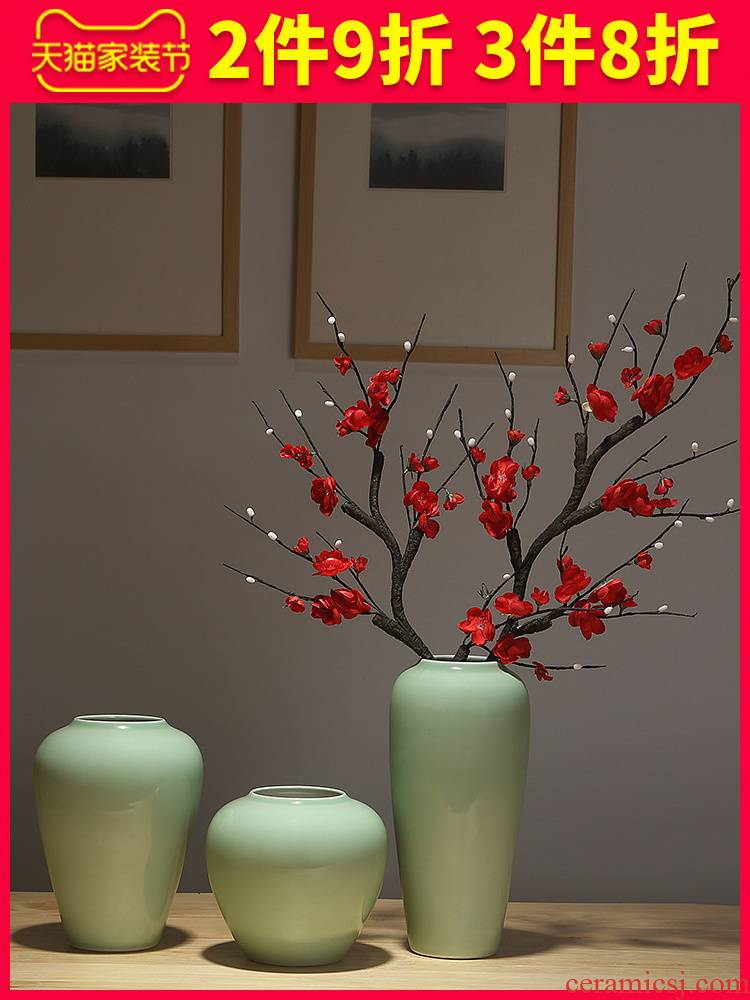 Jingdezhen ceramic decoration ideas dried flowers sitting room mesa vases, flower arranging flowers is I and contracted sitting room adornment