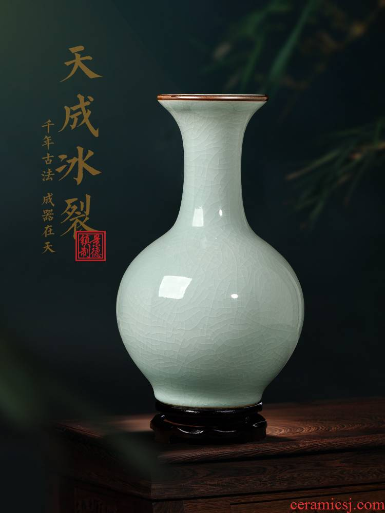 Jingdezhen ceramics antique vase is placed in the sitting room TV ark, porch decoration of Chinese style household porcelain arranging flowers