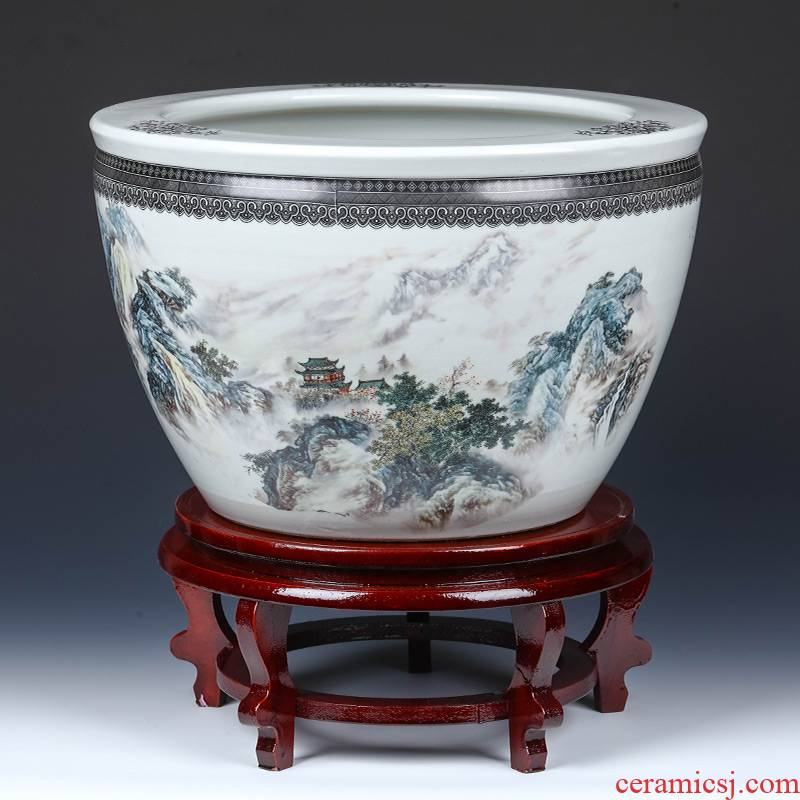 Jingdezhen ceramics basin of the sitting room aquarium to raise water lily lotus is suing garden kind of cycas miniascape extra large flower pot